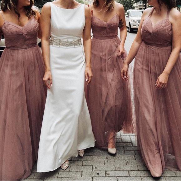 3ff45f97b23e7 Watters Dresses | Bhldn Tinsley Dress In Mauve Rose Quartz | Poshmark
